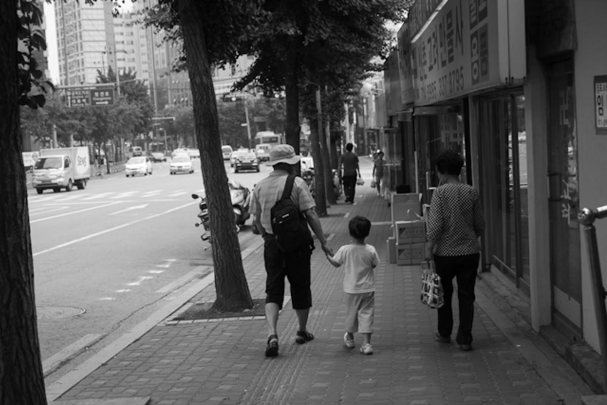 POTD day 169 - walk with grandparents