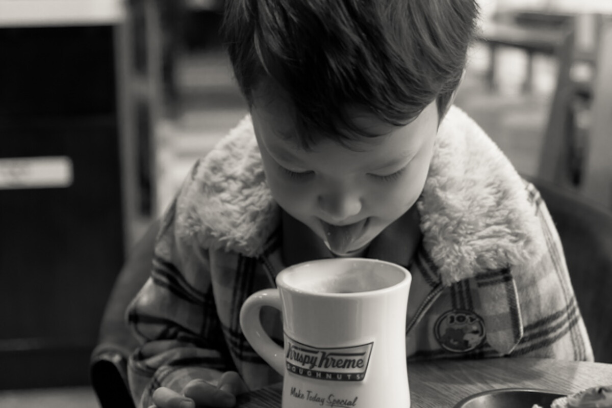 POTD day 78 A boy and his hot chocolate