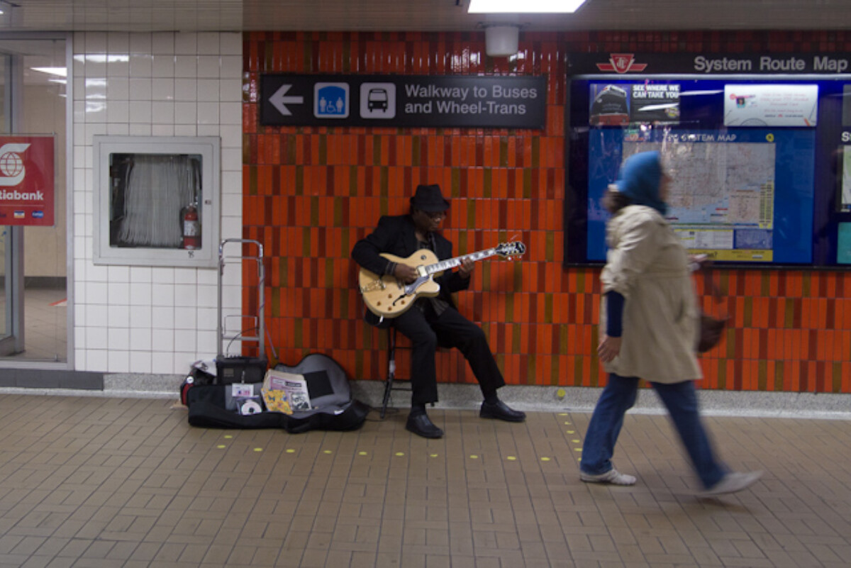 POTD day 215 Blues Busker