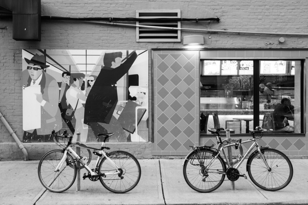 Mural, Bicicles & Window