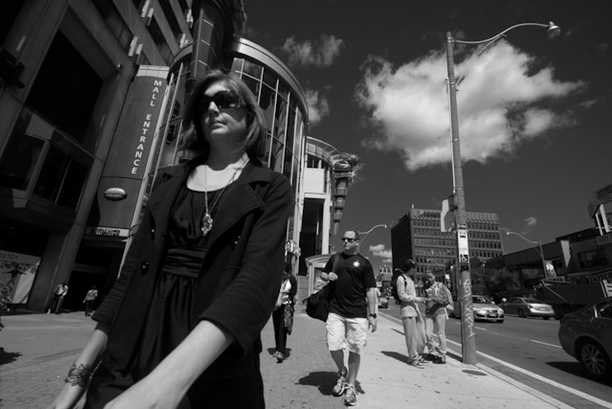 POTD day 200 Woman on Yonge Street