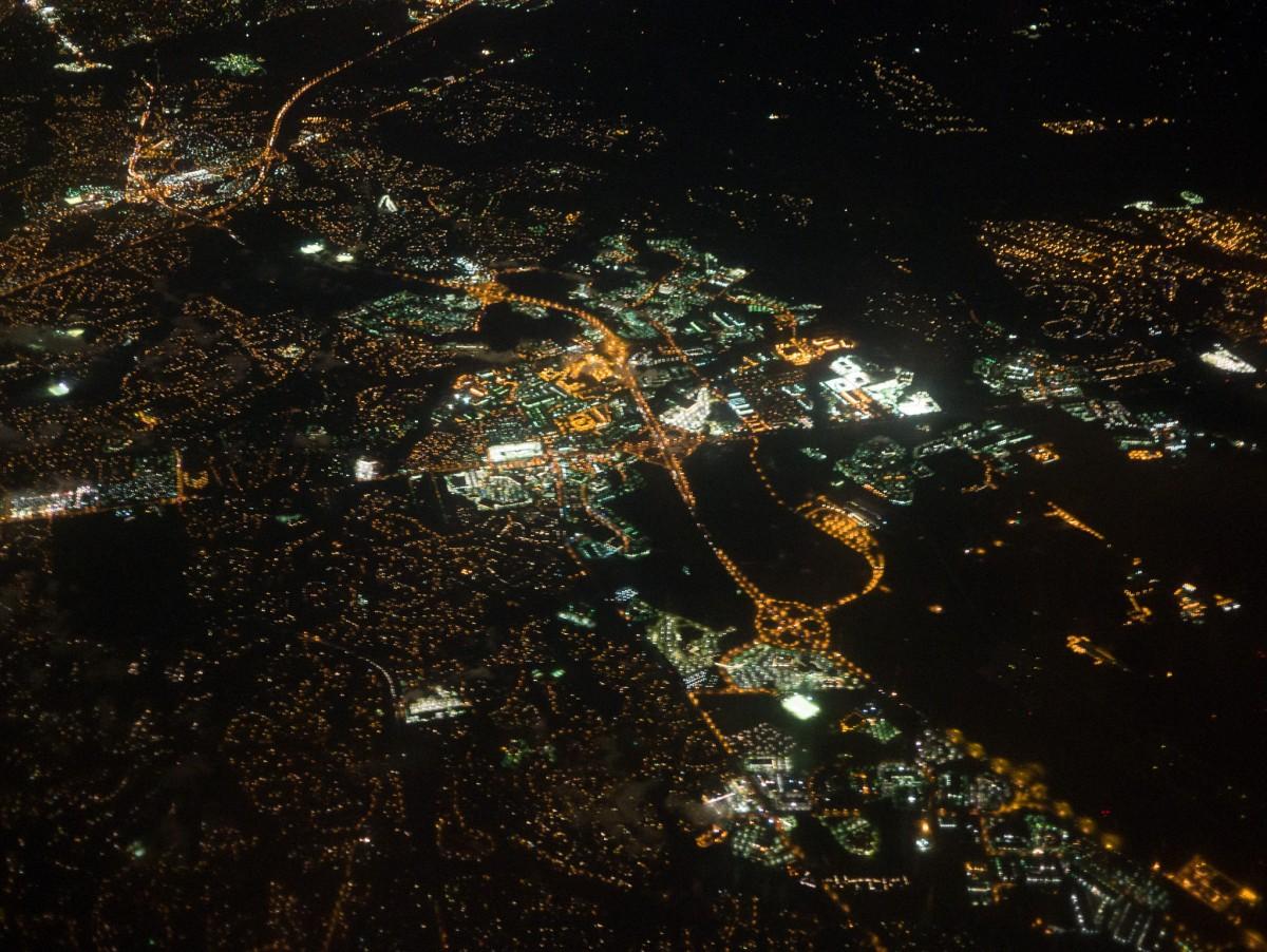 Washington DC - Birds Eye View at Night