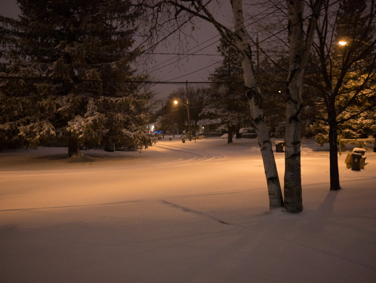 First Snow of Winter 2014-2015