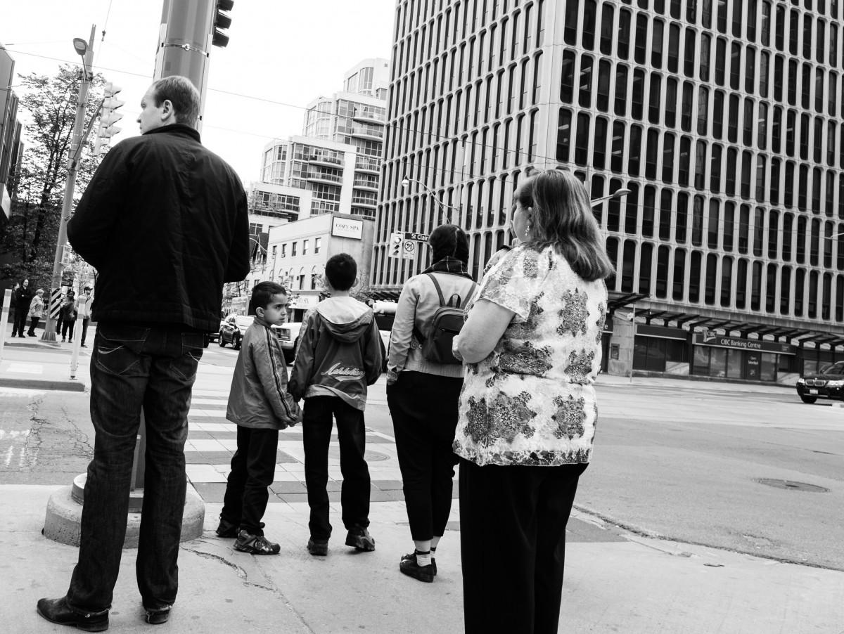 Waiting at the Crosswalk