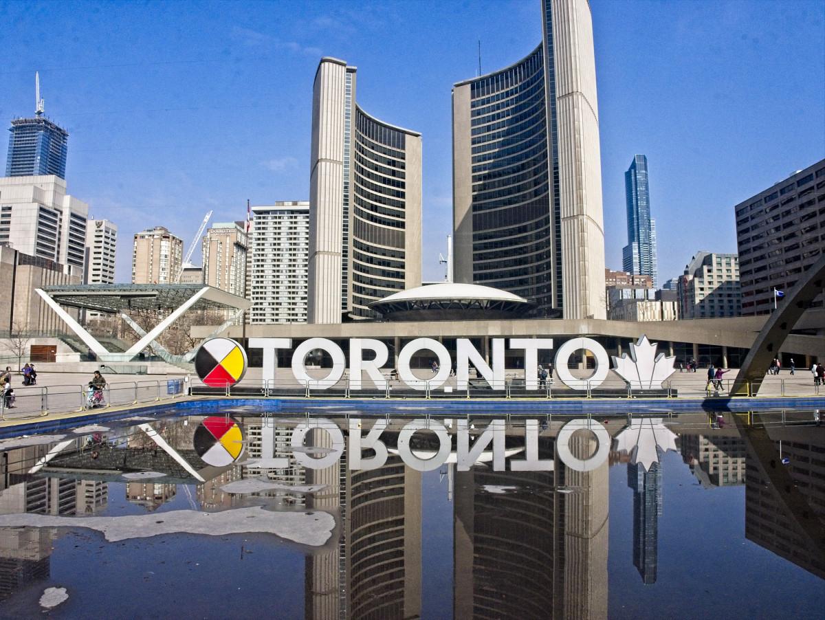 Toronto Sign - Reflection