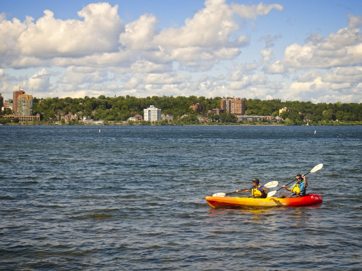 Kayaking on Lake Simcoe