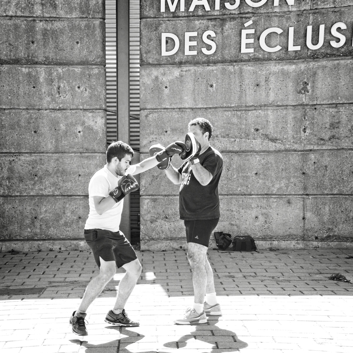 Boxing Lessons at the Old Port of Montreal