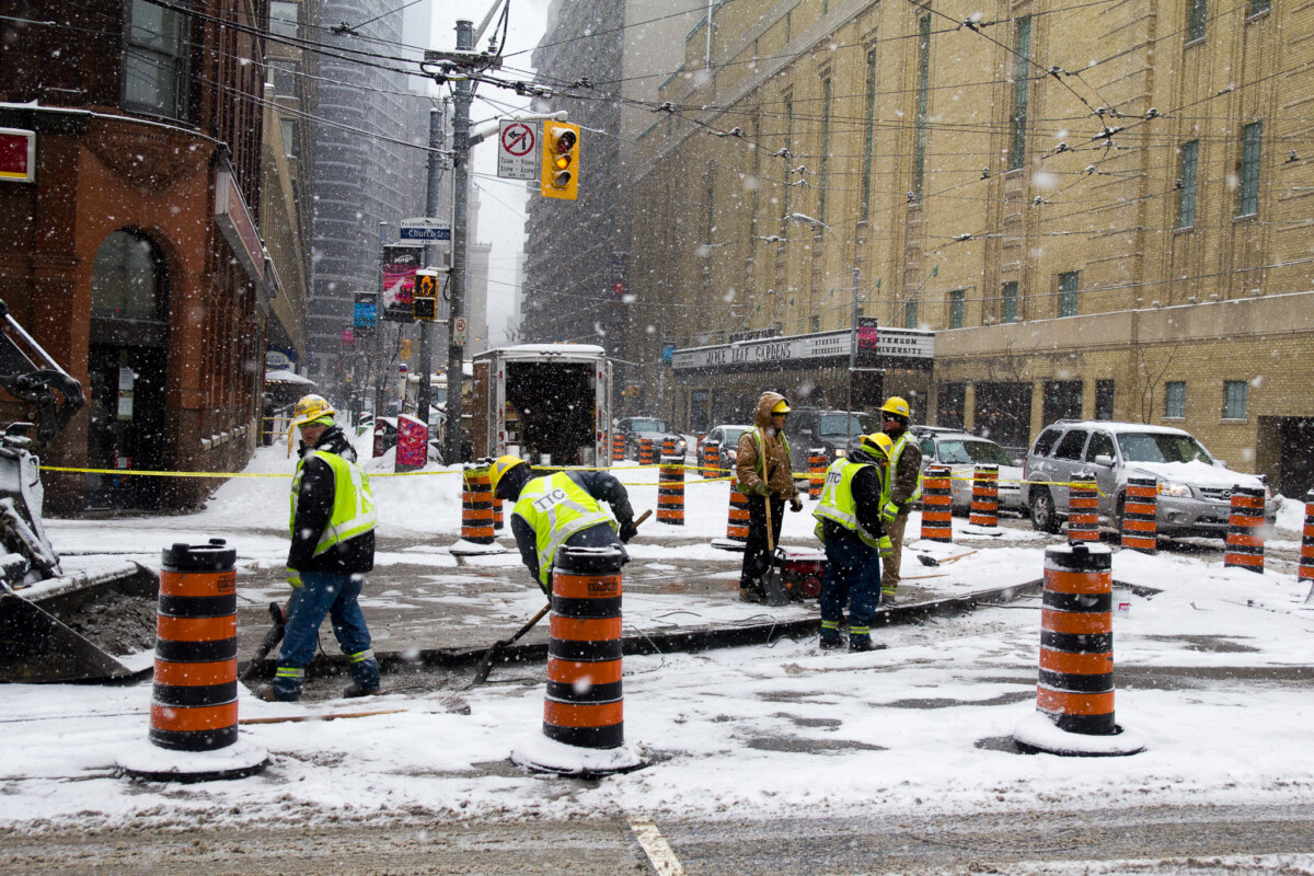 TTC Workers in the Snow
