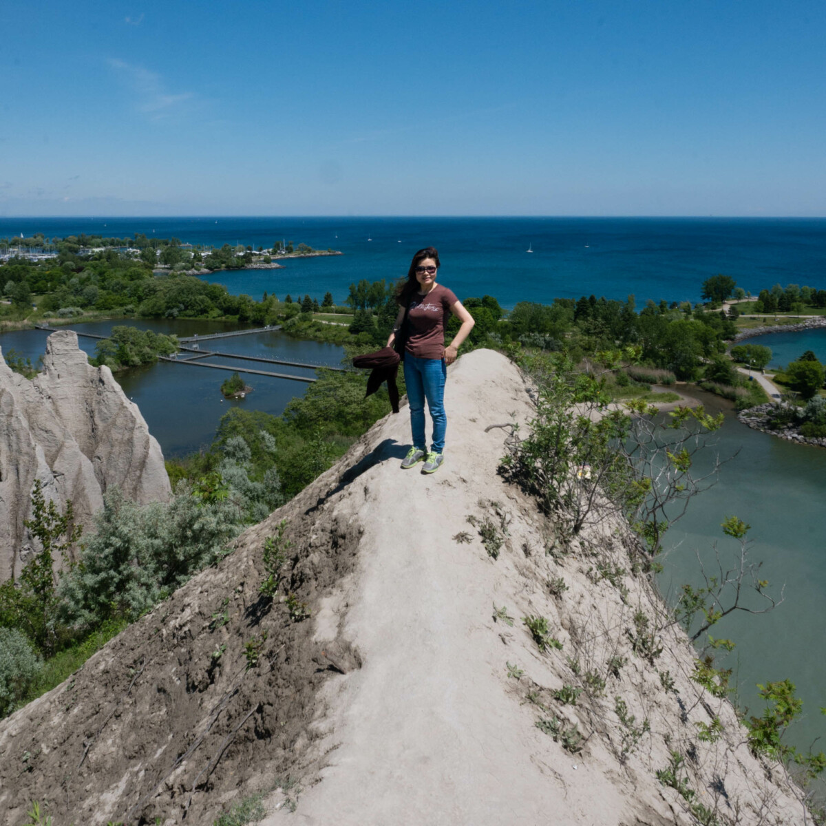 Wife at Scarborough Bluffs