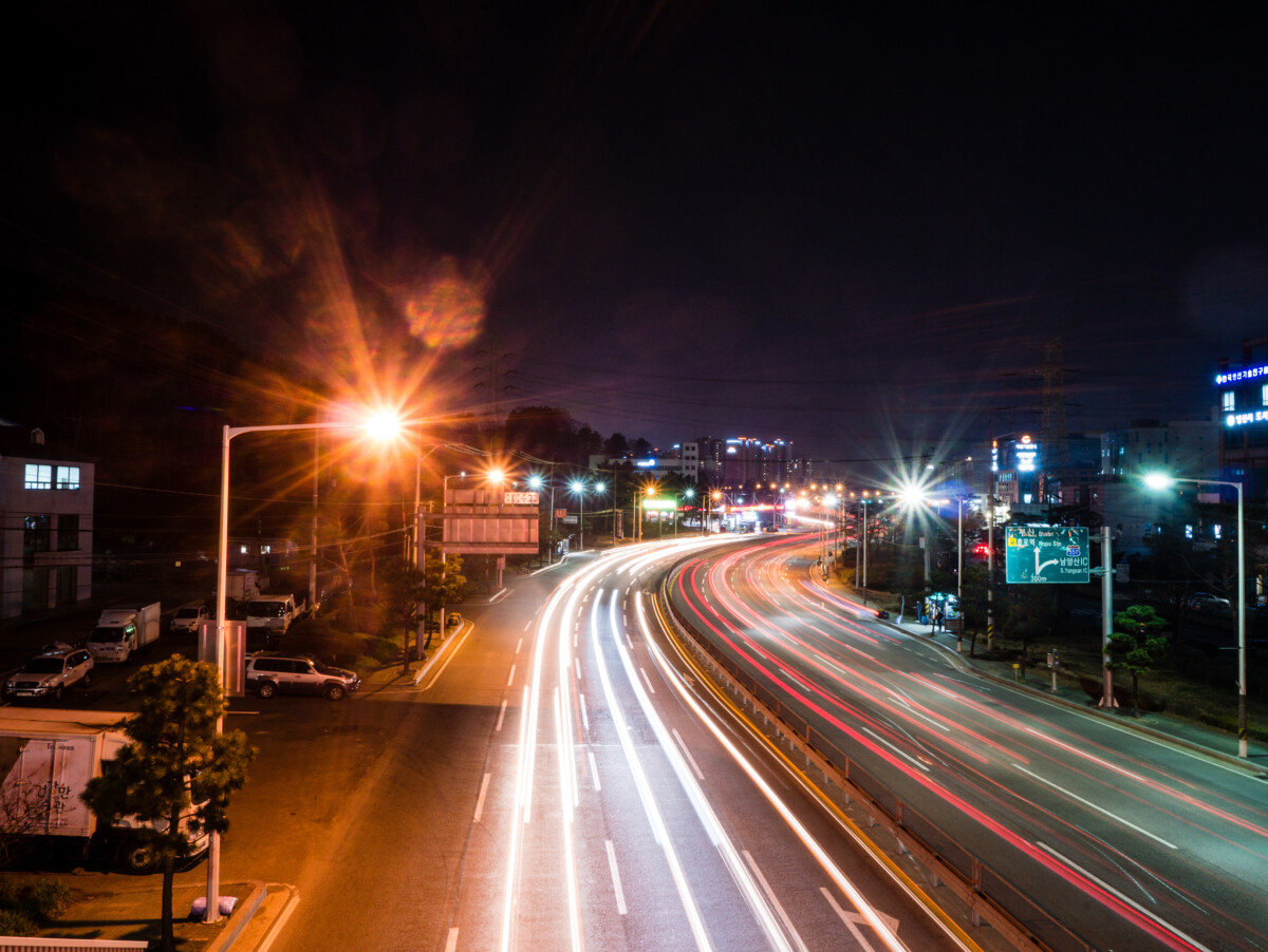 Light Trails in Yangsan